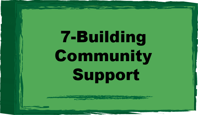 building community support button